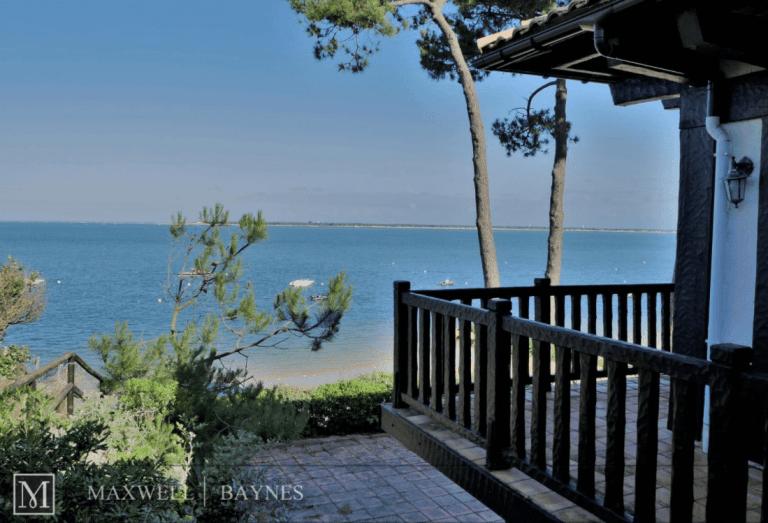 Beautiful Bassin d'Arcachon Gironde Real Estate: Seafront Villa Pyla Maxwell-Baynes ref 4395216