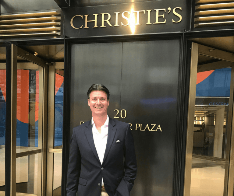 Michael Baynes from Maxwell-Baynes visits Christie's International Real Estate in New York
