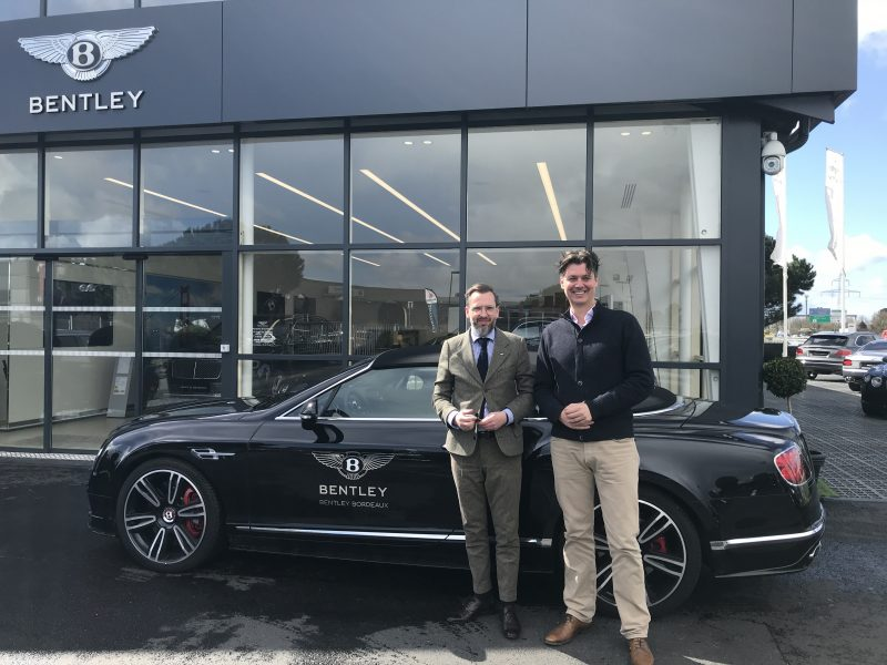 Raphaël VENE de Bentley Bordeaux avec Michael Baynes