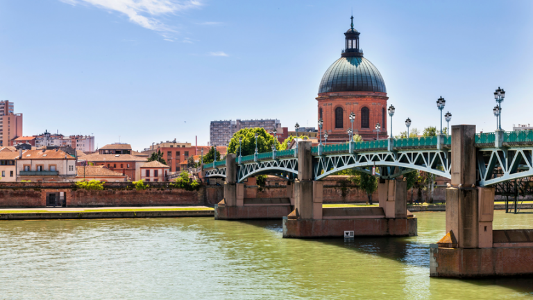 View of the city of Toulouse in the Gers, France