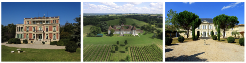 A selection of luxury properties and vineyards for sale