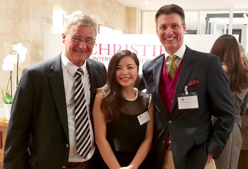 Bill Blatch from Christie's Wine, Li Lijuan and Michael Baynes